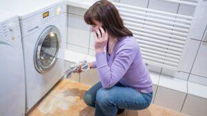 علل نشت آب از لباسشویی